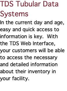 Scan Systems Corp  - TDS-Tubular